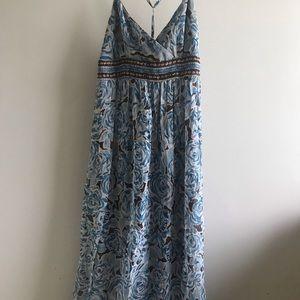 100% Silk Maxi Dress